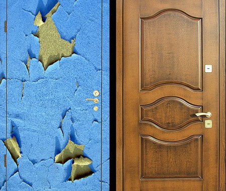 Ремонт входных металлических дверей в квартире в Санкт-Петербурге