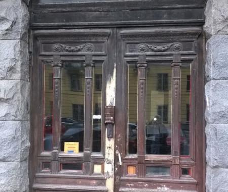 Реставрация уличной двери наб. Фонтанки 64